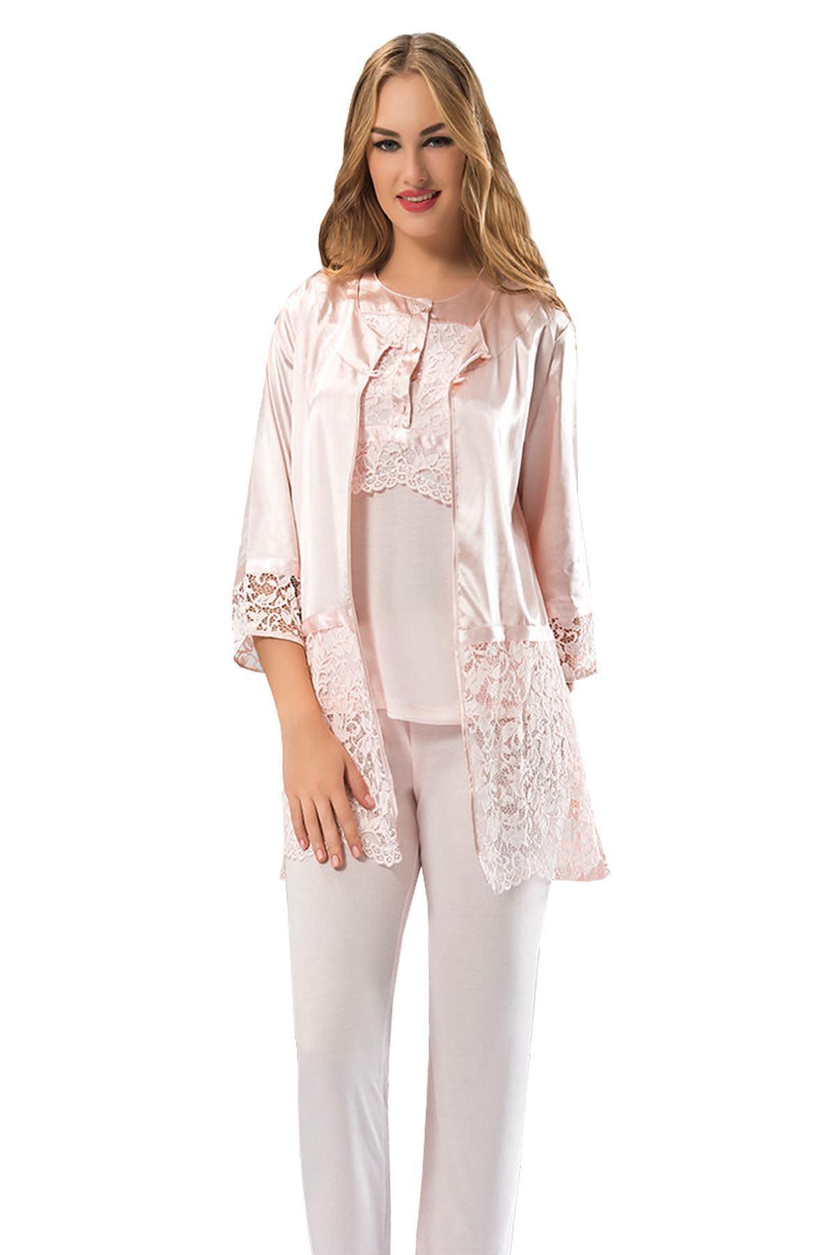 Sistina 1417 Saten Çeyizlik Pijama Takım