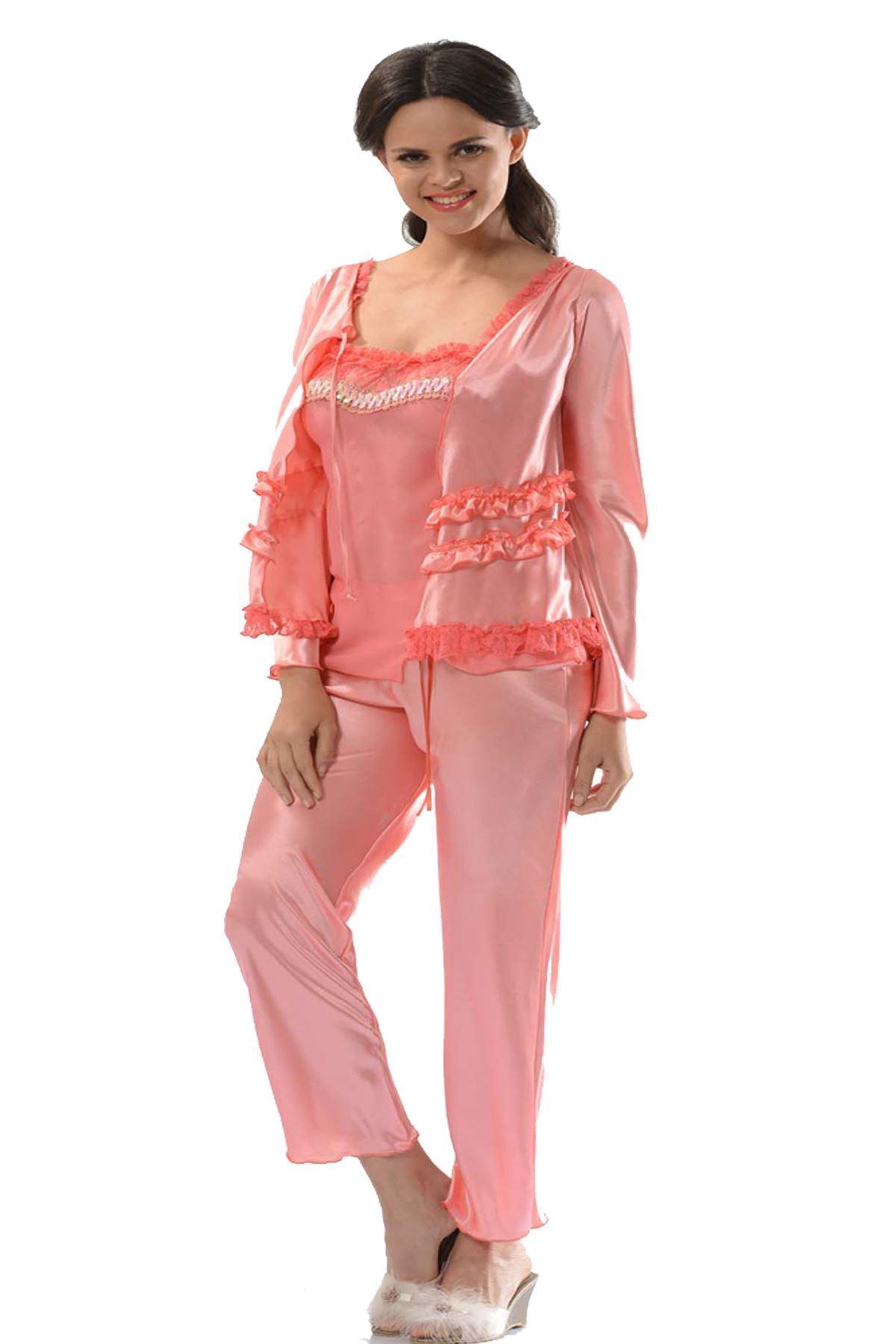 Sistina 1413 Saten Çeyizlik Pijama Takım
