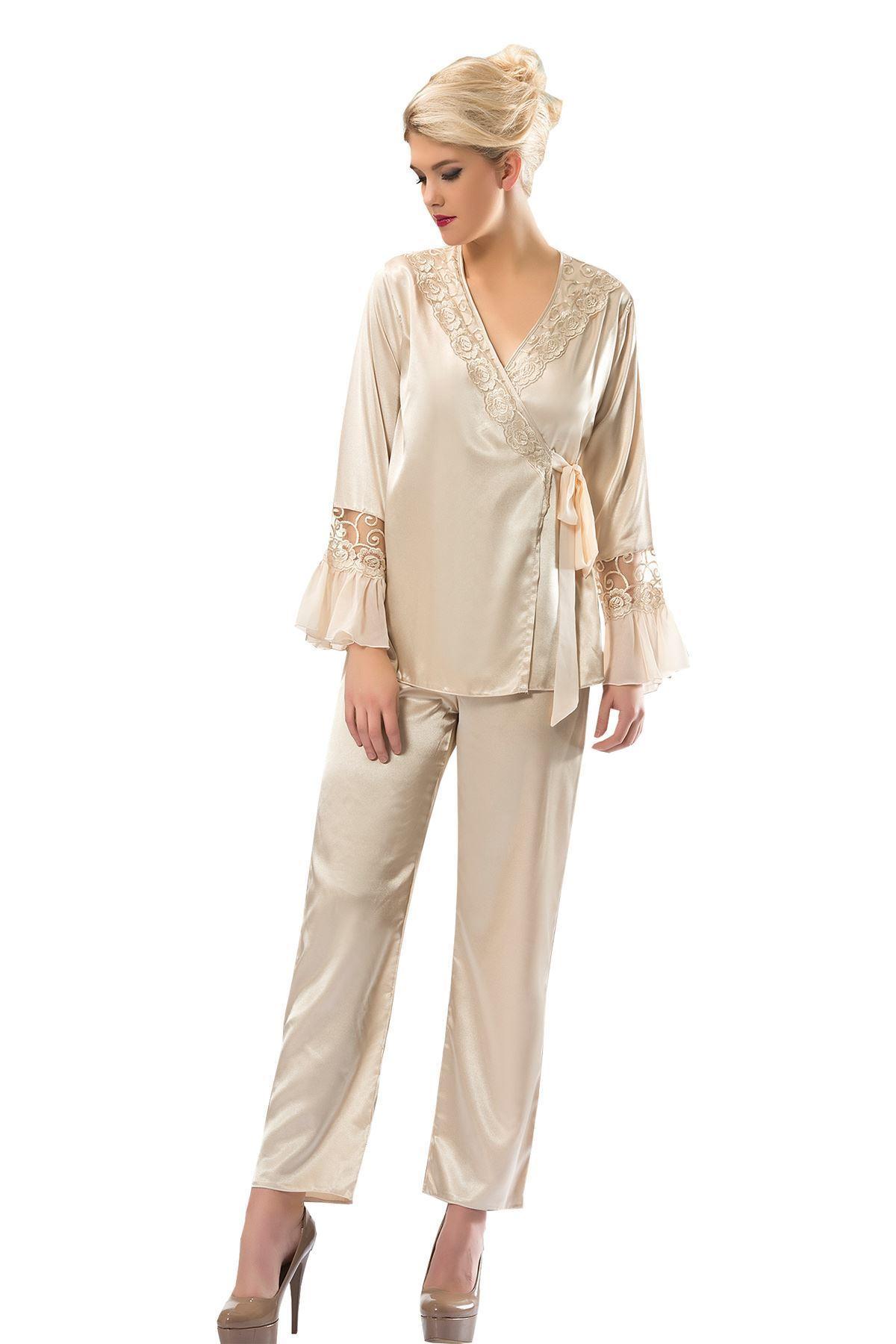 Sistina 1592 Saten Çeyizlik Pijama Takım