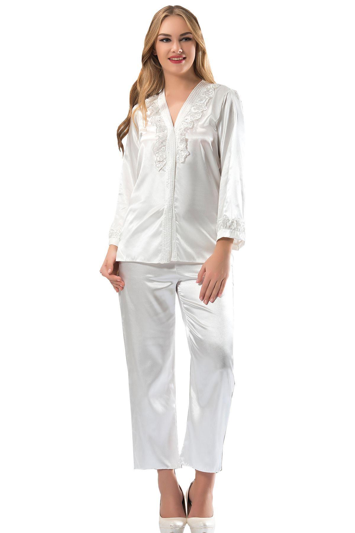Sistina 1590 Saten Çeyizlik Pijama Takım