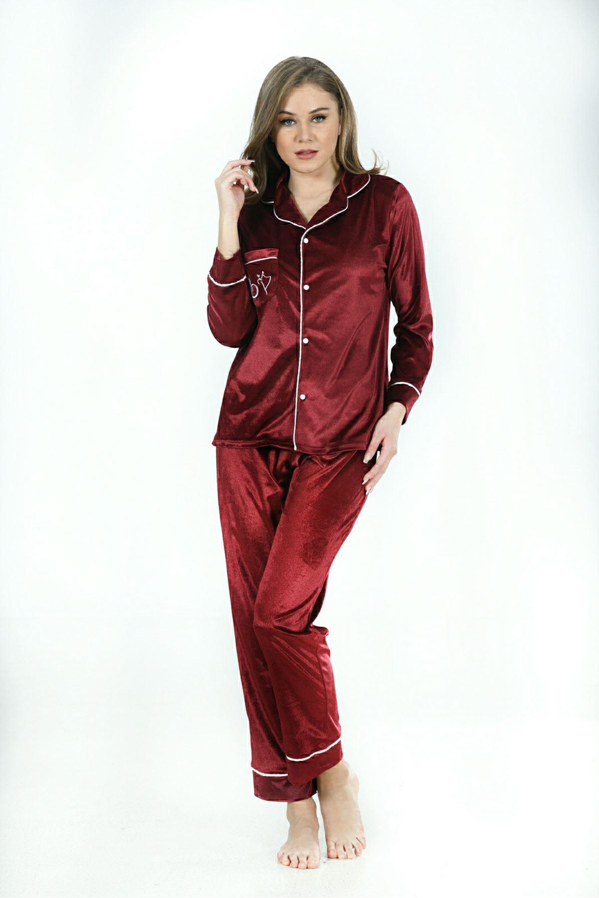 Sistina 1636 Kadife Pijama Takım
