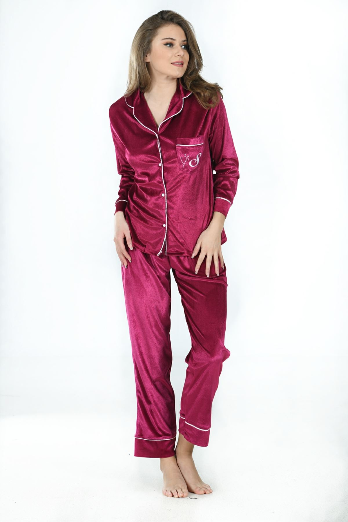 Sistina 1643 Kadife Pijama Takım